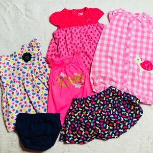 Babygirl Butterflies & Birds Outfit Lot